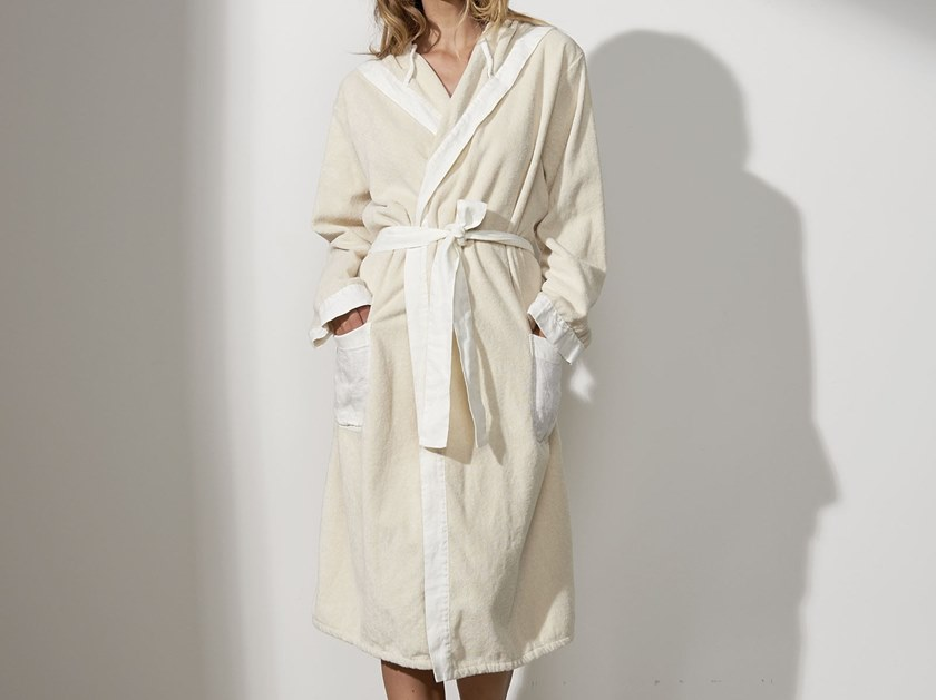 Linen bathrobe BORDI&CORNICI | Bathrobe by LA FABBRICA DEL LINO