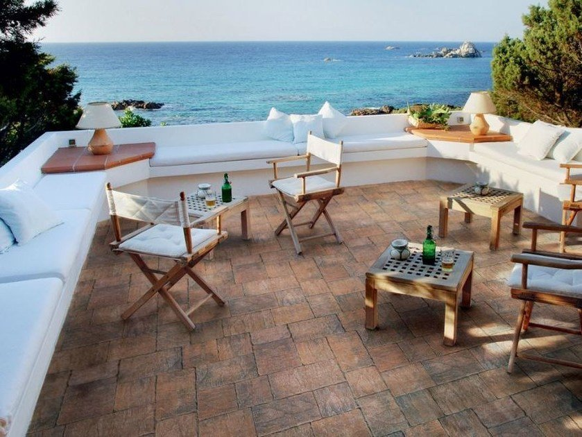 Cement outdoor floor tiles with stone effect BORGO D'ORCIA by FAVARO1