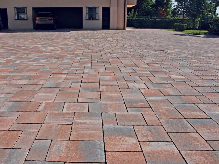 Concrete paving block BORGO VENETO by Micheletto