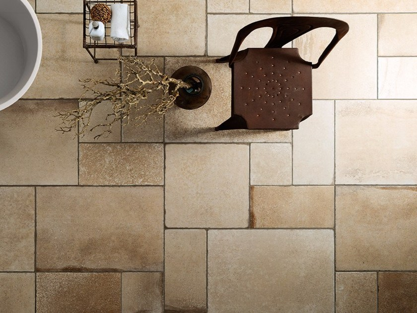 Porcelain stoneware flooring with stone effect BORGOGNA_MIX by Ceramiche Coem