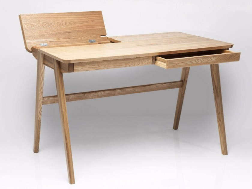 Rectangular wooden writing desk with drawers BOSCO by KARE-DESIGN