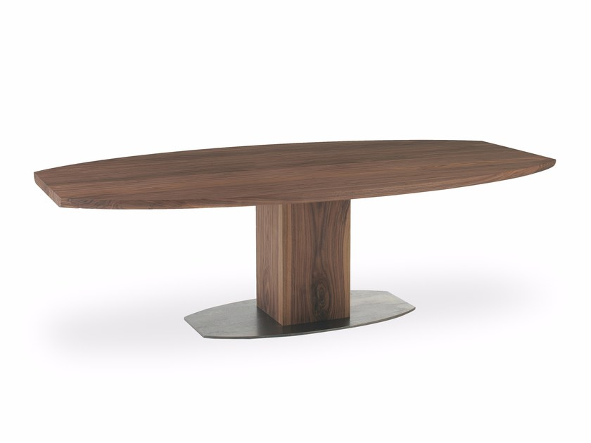 Oval solid wood table BOSS BASIC | Oval table by Riva 1920