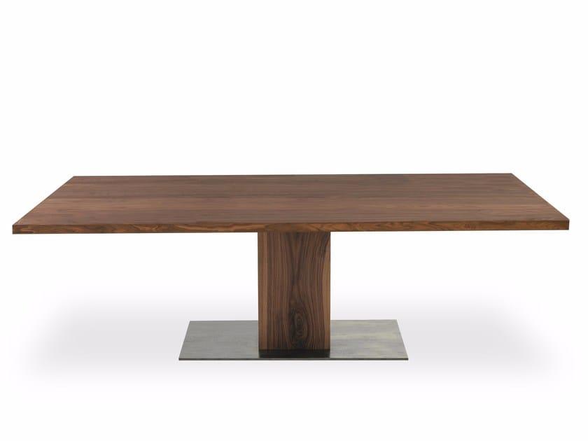 Rectangular solid wood table BOSS BASIC | Rectangular table by Riva 1920