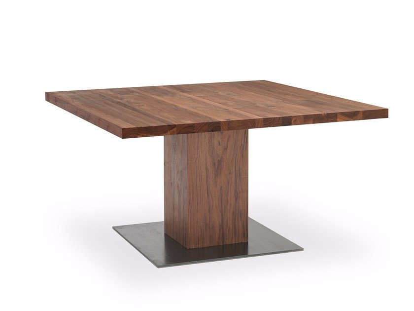 Square solid wood table BOSS BASIC | Square table by Riva 1920