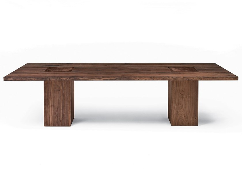 Rectangular solid wood table BOSS EXECUTIVE by Riva 1920