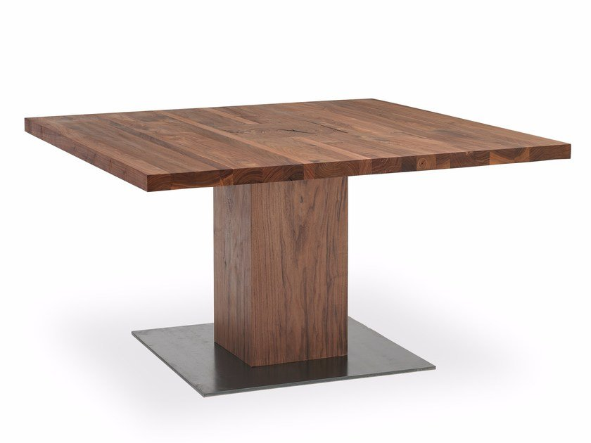 Square solid wood table BOSS EXECUTIVE | Square table by Riva 1920