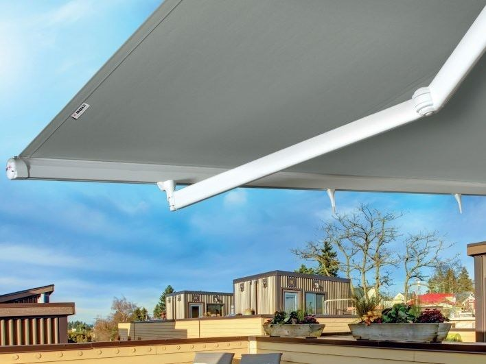 Awesome Motorized Fabric Folding Arm Awning BOSTON By Arquati Service