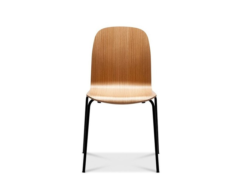Stackable wood veneer chair BOSTON CONTRACT by Danerka