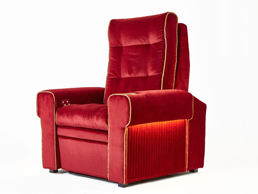 Microfiber Cinema armchair with motorised functions with integrated lighting BOSTON | Cinema armchair by moovia