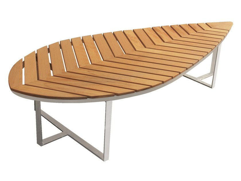 Banc De Jardin En Teck Boston Leaf By Mobika Garden