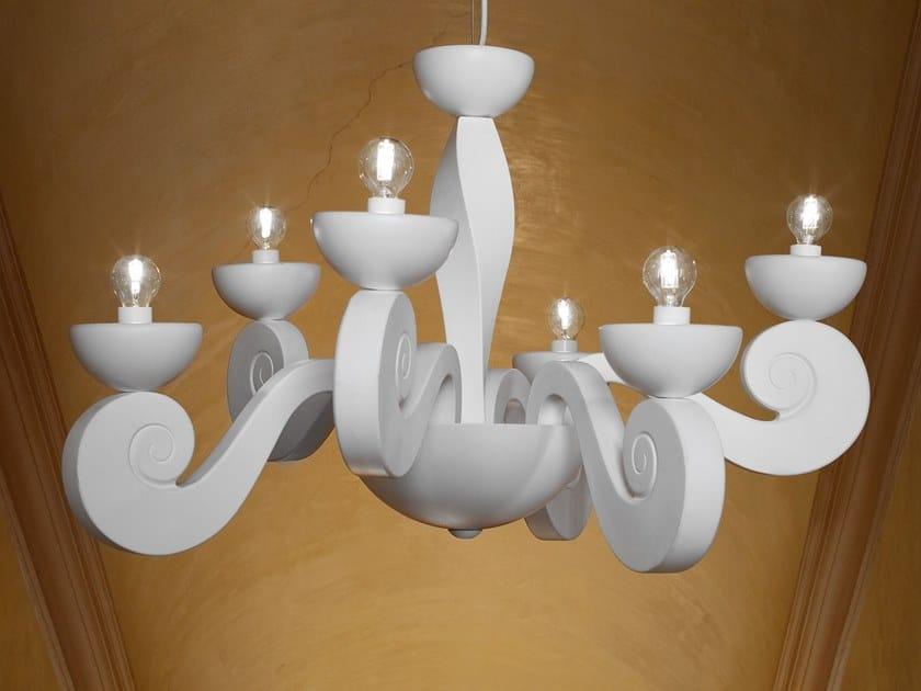 Direct light expanded polyurethane pendant lamp BOTERO S3+3 by Masiero