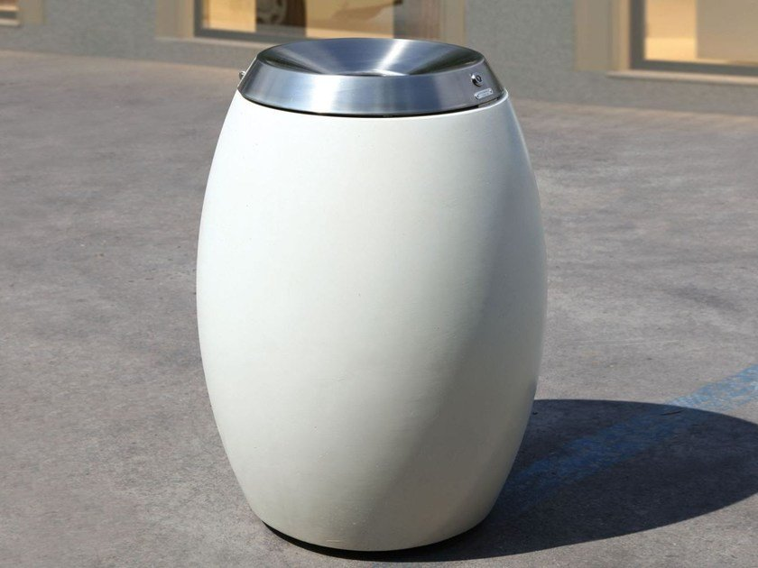Outdoor HPC litter bin BOTTE | HPC litter bin by Metalco