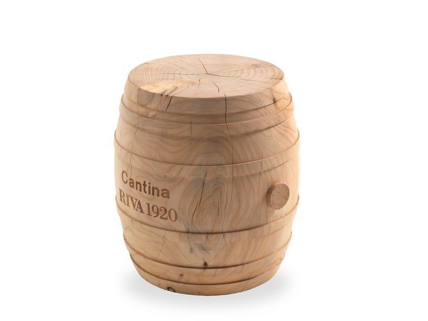 Low cedarwood stool BOTTE by Riva 1920