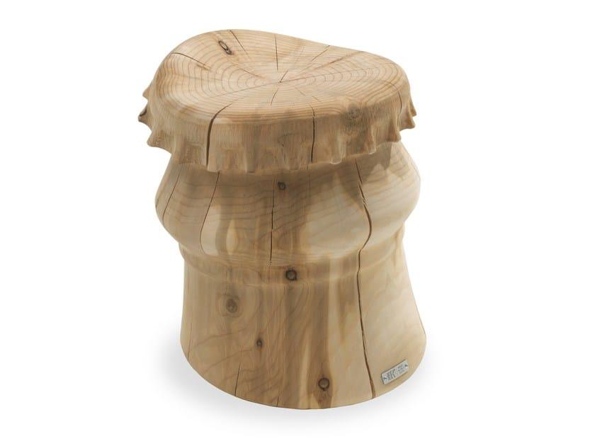 Cedarwood stool BOTTLE CAP by Riva 1920
