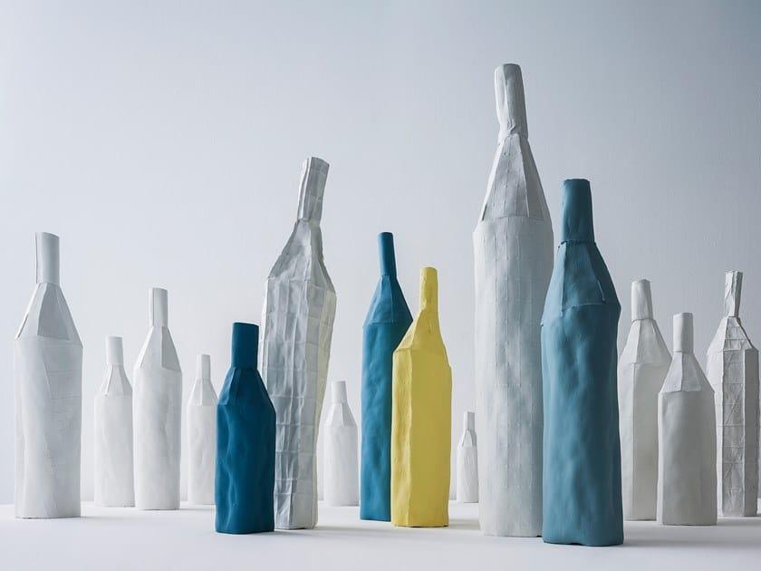 Ceramic bottle BOTTLE by Paola Paronetto