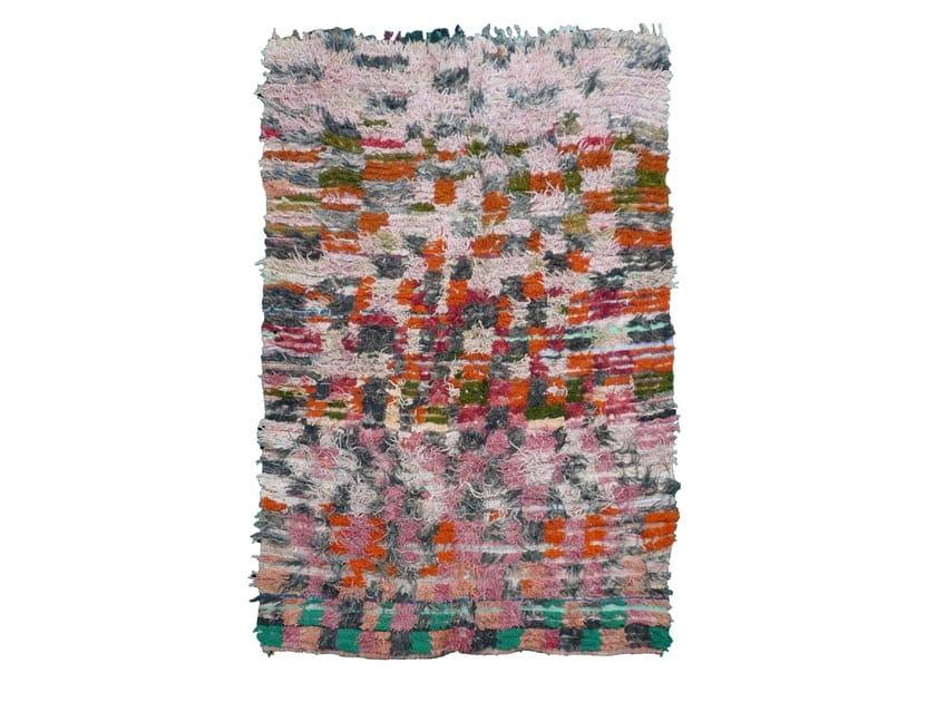 Patterned long pile rectangular wool rug BOUCHEROUITE TA984BE by AFOLKI
