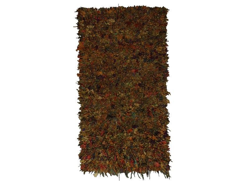 Long pile rectangular wool rug BOUCHEROUITE TAA1022BE by AFOLKI