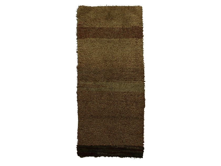 Long pile rectangular wool rug BOUCHEROUITE TAA1035BE by AFOLKI