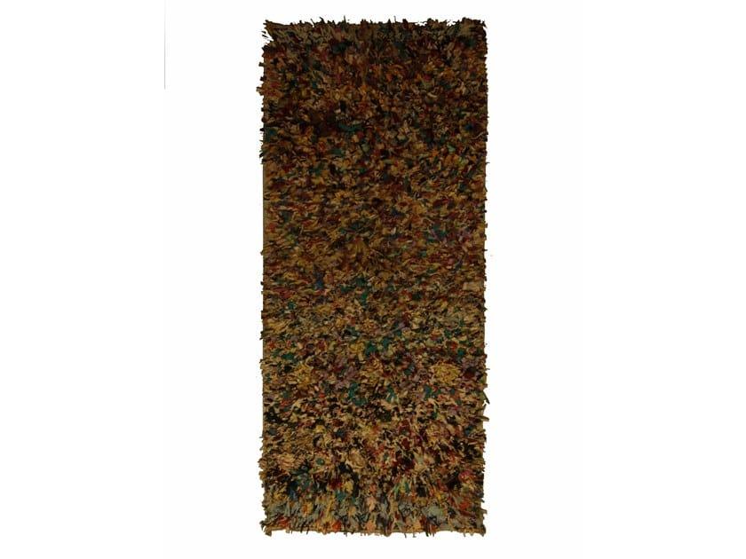 Long pile rectangular wool rug BOUCHEROUITE TAA1083BE by AFOLKI