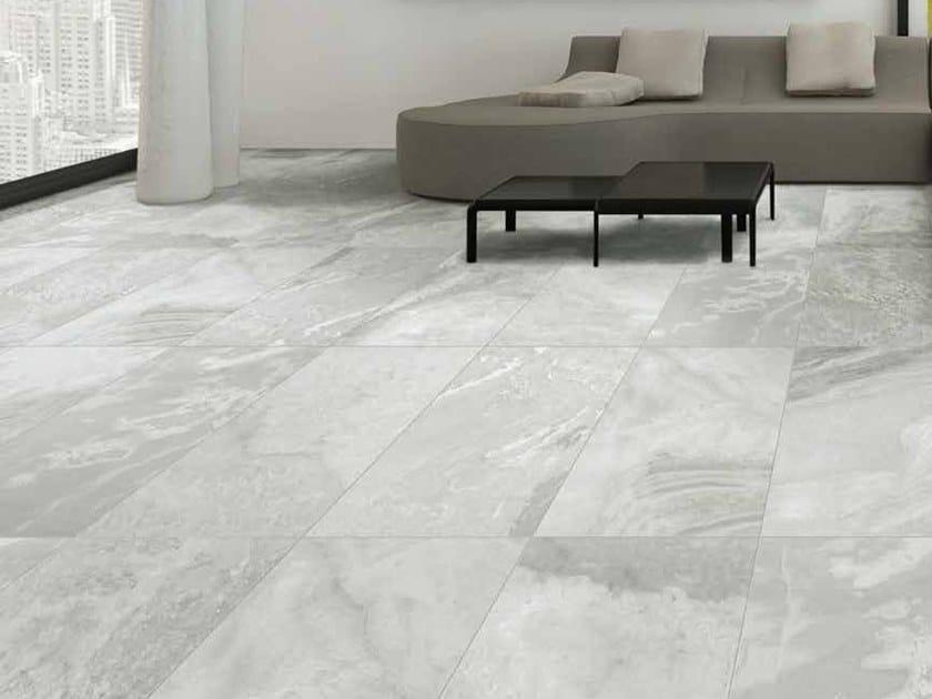 Indoor/outdoor porcelain stoneware flooring with stone effect BOULDER by Casalgrande Padana
