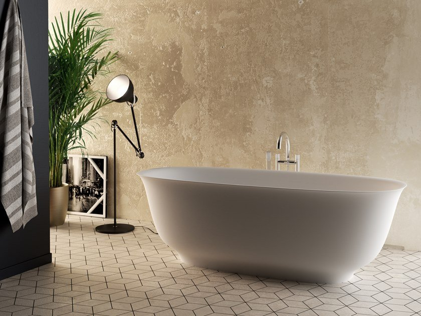 Freestanding Cristalplant® bathtub BOUQUET by Aquadesign Studio