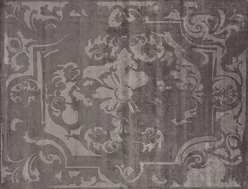 Handmade rectangular custom fabric rug BOURBON ANTHRACITE by EDITION BOUGAINVILLE