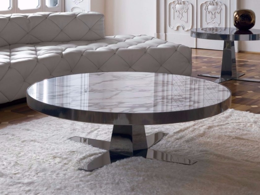 Round marble coffee table BOURBON by Longhi