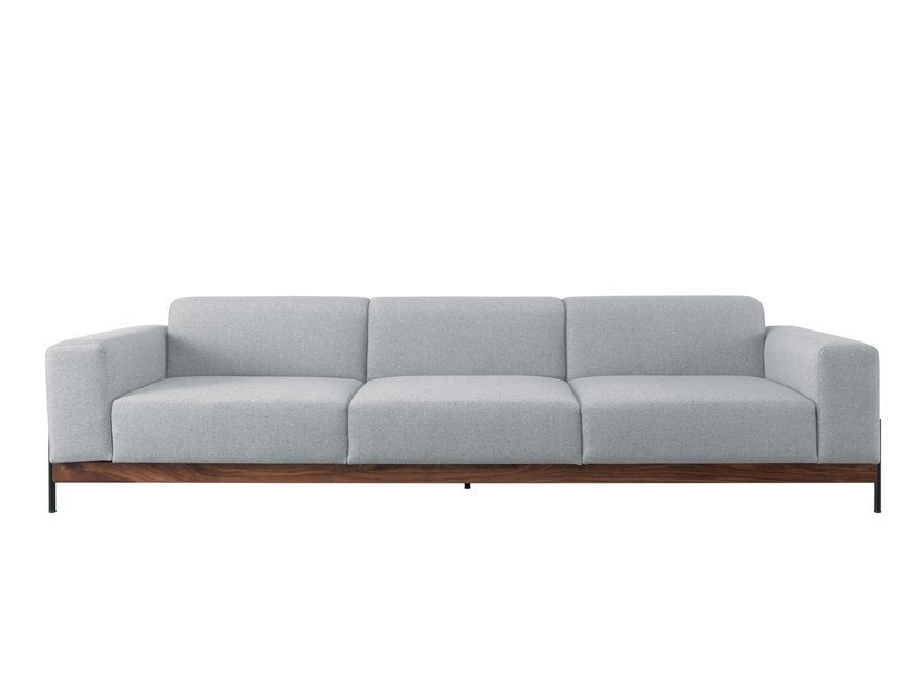 Upholstered 3 seater fabric leisure sofa BOWIE | 3 seater sofa by Wewood