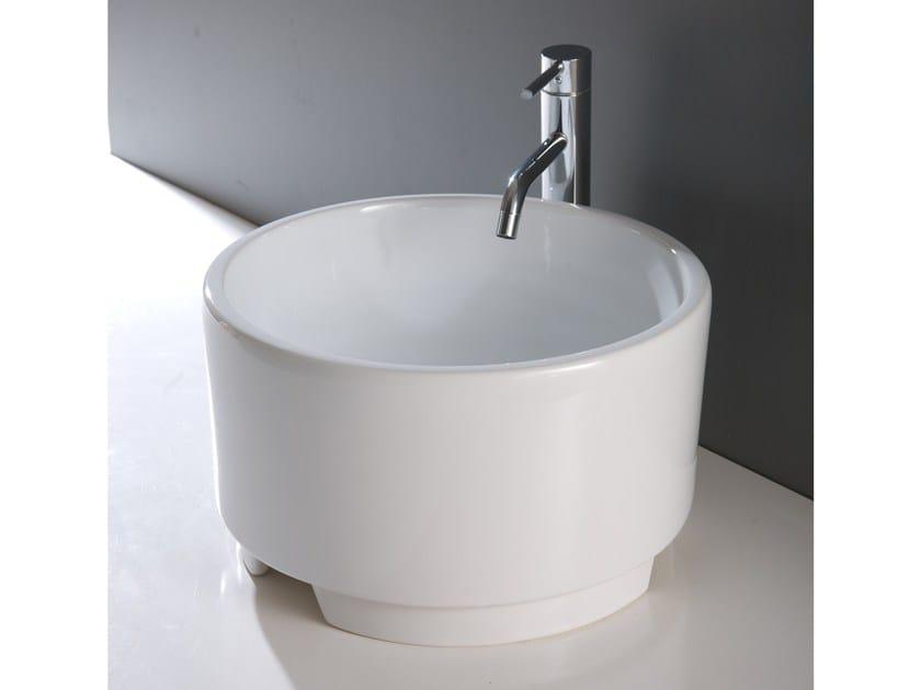 Lavabo da appoggio rotondo in ceramica BOWL 3 by BLEU PROVENCE