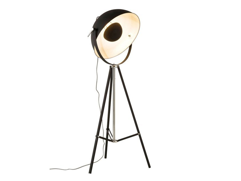 Indirect light steel floor lamp BOWL BLACK by KARE-DESIGN