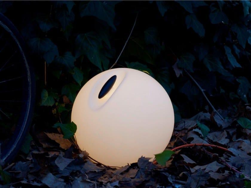 Lampada da terra per esterno a LED in polietilene BOWL by Martinelli Luce