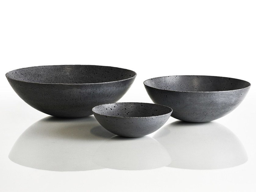 Concrete decorative bowls by GRAVELLI BOWLS by Gravelli