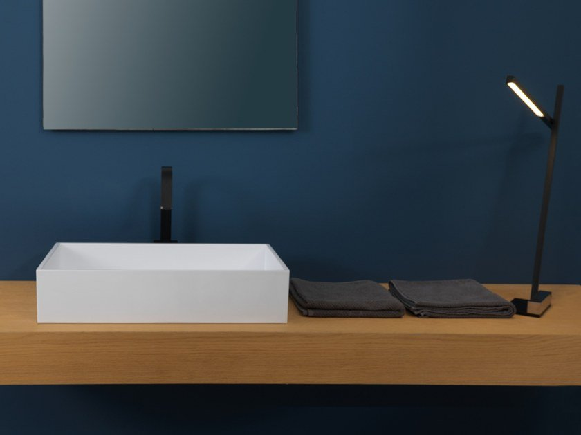 Countertop rectangular washbasin BOX | Countertop washbasin by GSG Ceramic Design