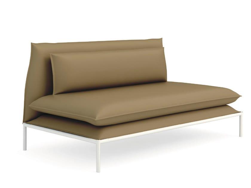 Upholstered leather leisure sofa BOX   Leisure sofa by Quinti Sedute