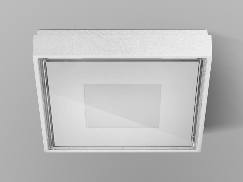 Die cast aluminium wall lamp / ceiling lamp BOX by PANZERI