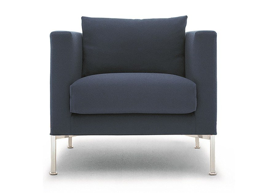 Fabric armchair with armrests BOX | Armchair by Living Divani