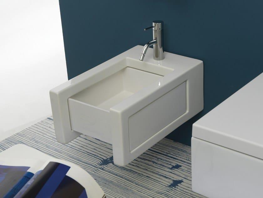 Wall-hung ceramic bidet BOX | Wall-hung bidet by GSG Ceramic Design