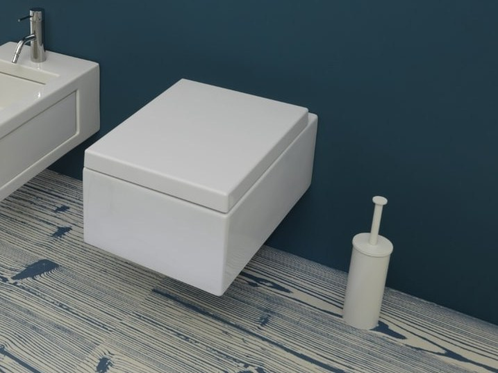 Wall-hung ceramic toilet BOX | Wall-hung toilet by GSG Ceramic Design