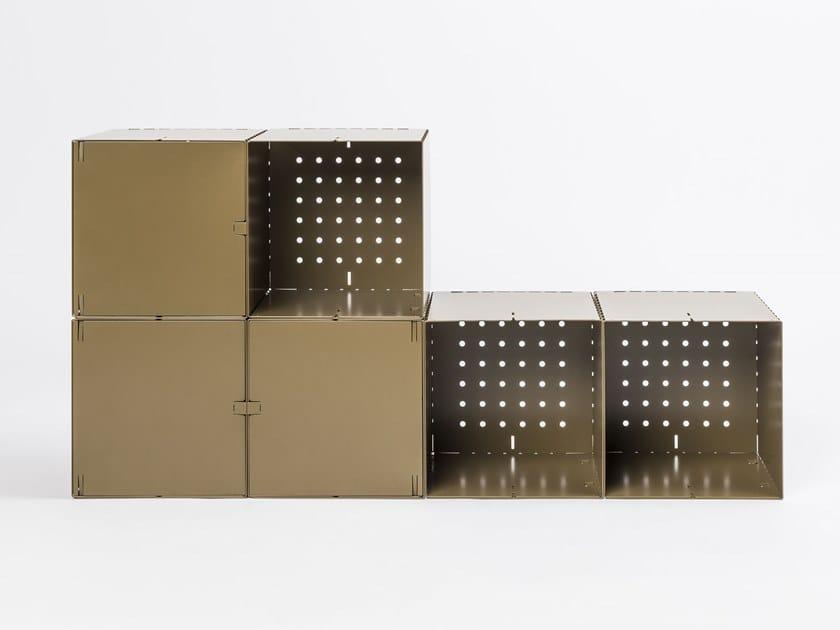 Modular aluminium bookcase BOX by da a