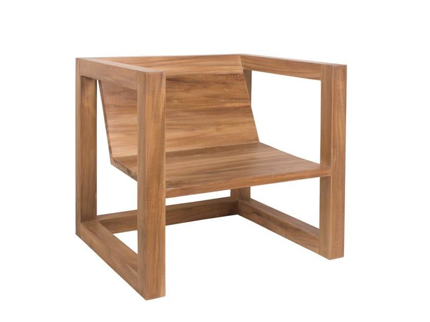 Teak garden armchair BOXER | Garden armchair by Il Giardino di Legno