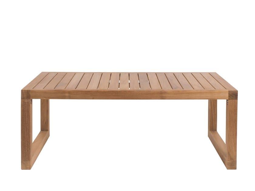 Low rectangular teak garden side table BOXER | Low coffee table by Il Giardino di Legno