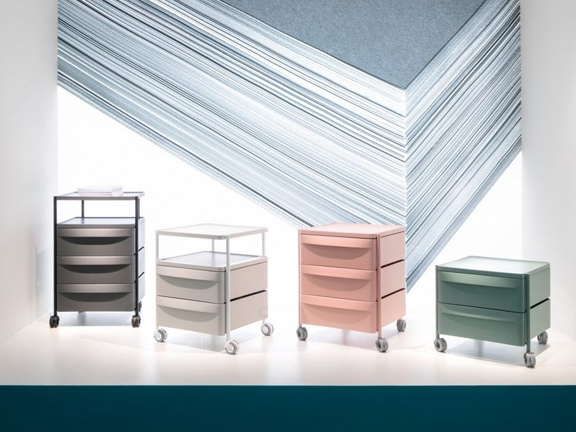 Modular office drawer unit with casters BOXIE by PEDRALI