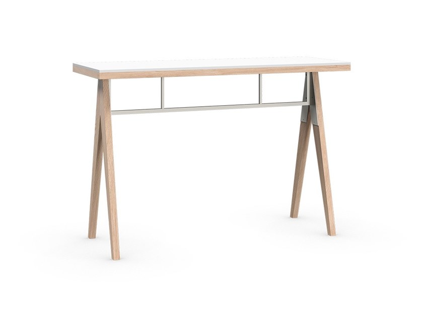 Rectangular wooden console table BRACCAS   Console table by Coquo