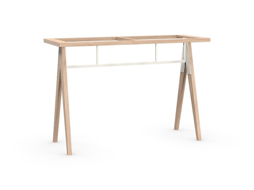 Solid wood table base BRACCAS | Table base by Coquo