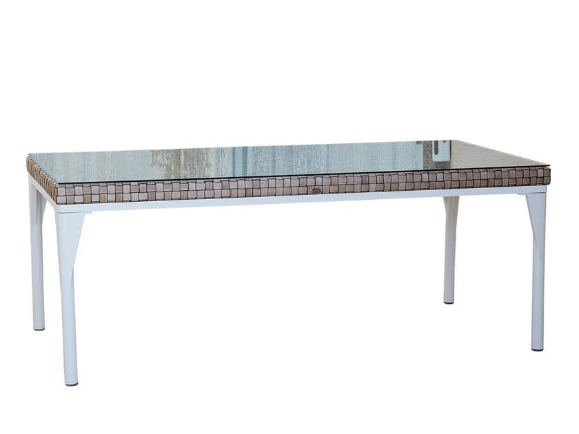 Tavolo da giardino rettangolare per contract BRAFTA 22936 by SKYLINE design