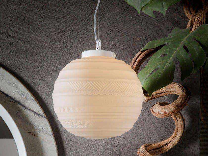 Satin glass pendant lamp BRAILLE | Pendant lamp by Karman