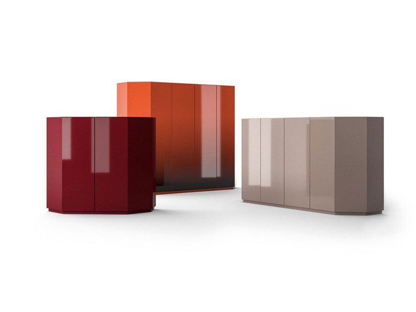 MDF sideboard with doors with integrated lighting BRAMANTE by Cassina