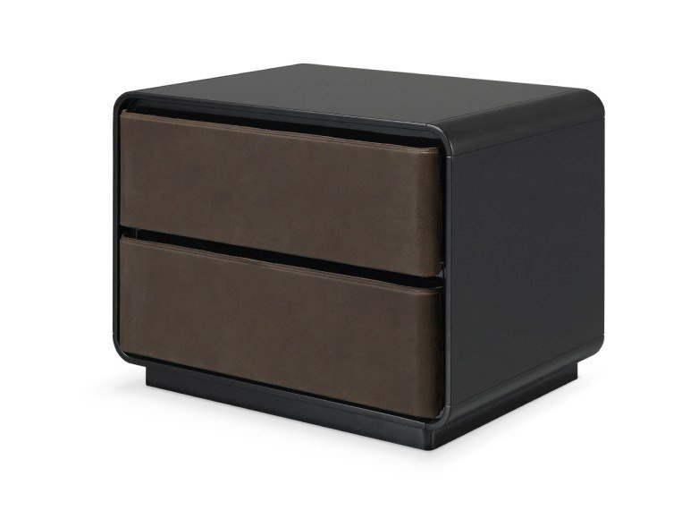 Lacquered bedside table with drawers BRANDEN | Bedside table by PRADDY