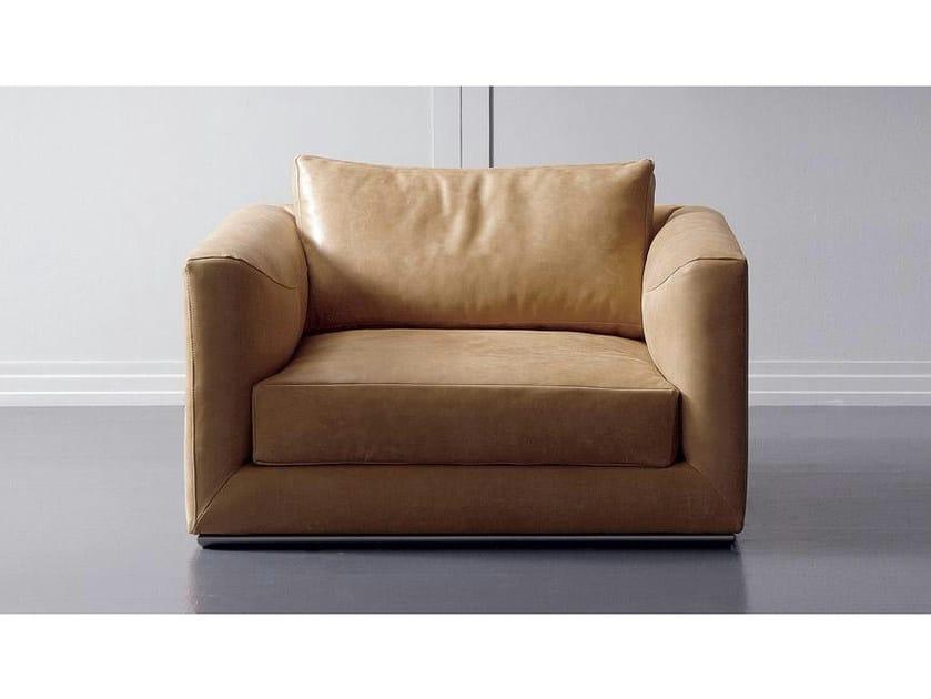 Leather armchair with armrests BRANDO | Leather armchair by Marac