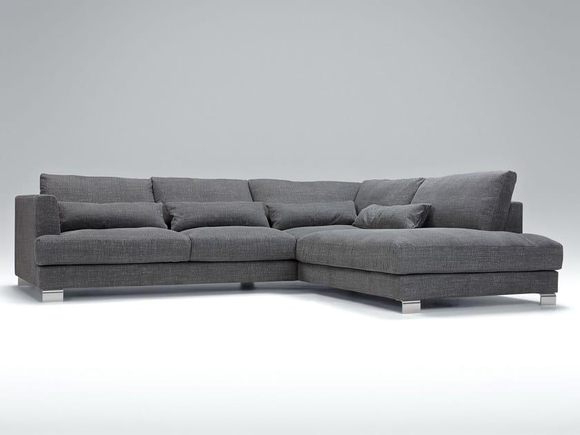Corner upholstered 4 seater fabric sofa BRANDON | Corner sofa by Sits